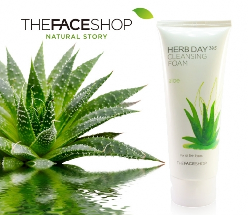 The face shop Herb day 365 cleansing foam #Aloe