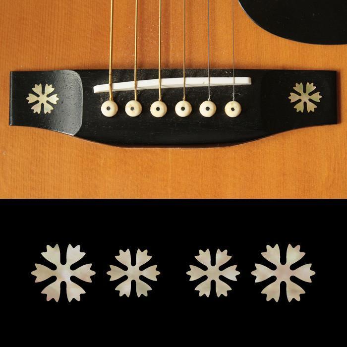 Guitar Bridge Inlay Sticker Snowflakes (AWP) 4 pcs / set