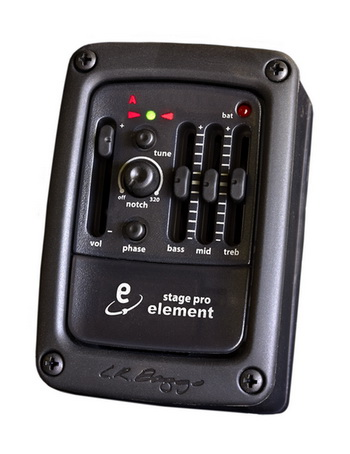 L.R. Baggs Stagepro Element Acoustic Guitar Pickup with Side-Mounted Preamp/EQ