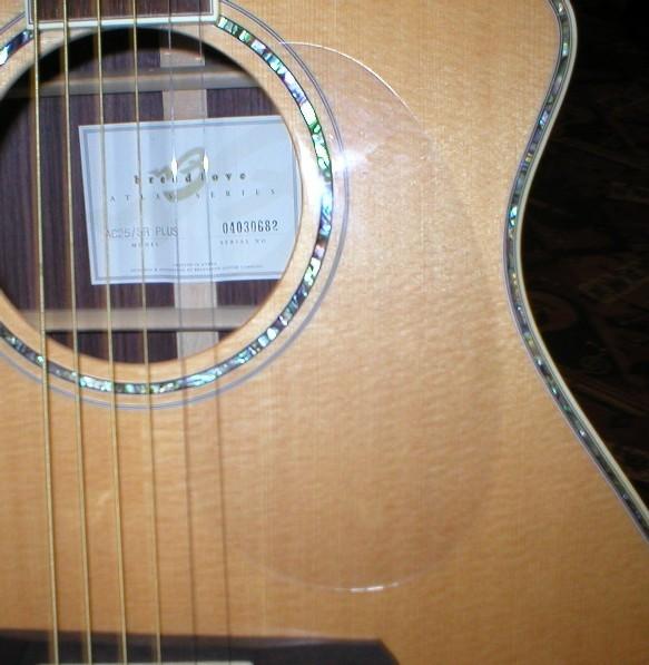 Clear Acoustic Pickguard