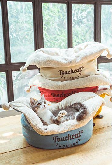 ที่นอนสำหรับน้องหมาน้องแมว Touchcat สีครีม