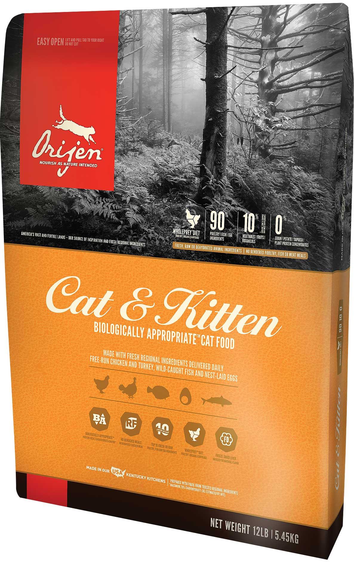 Orijen Cat & Kitten ออริเจน สูตรแมวและลูกแมว