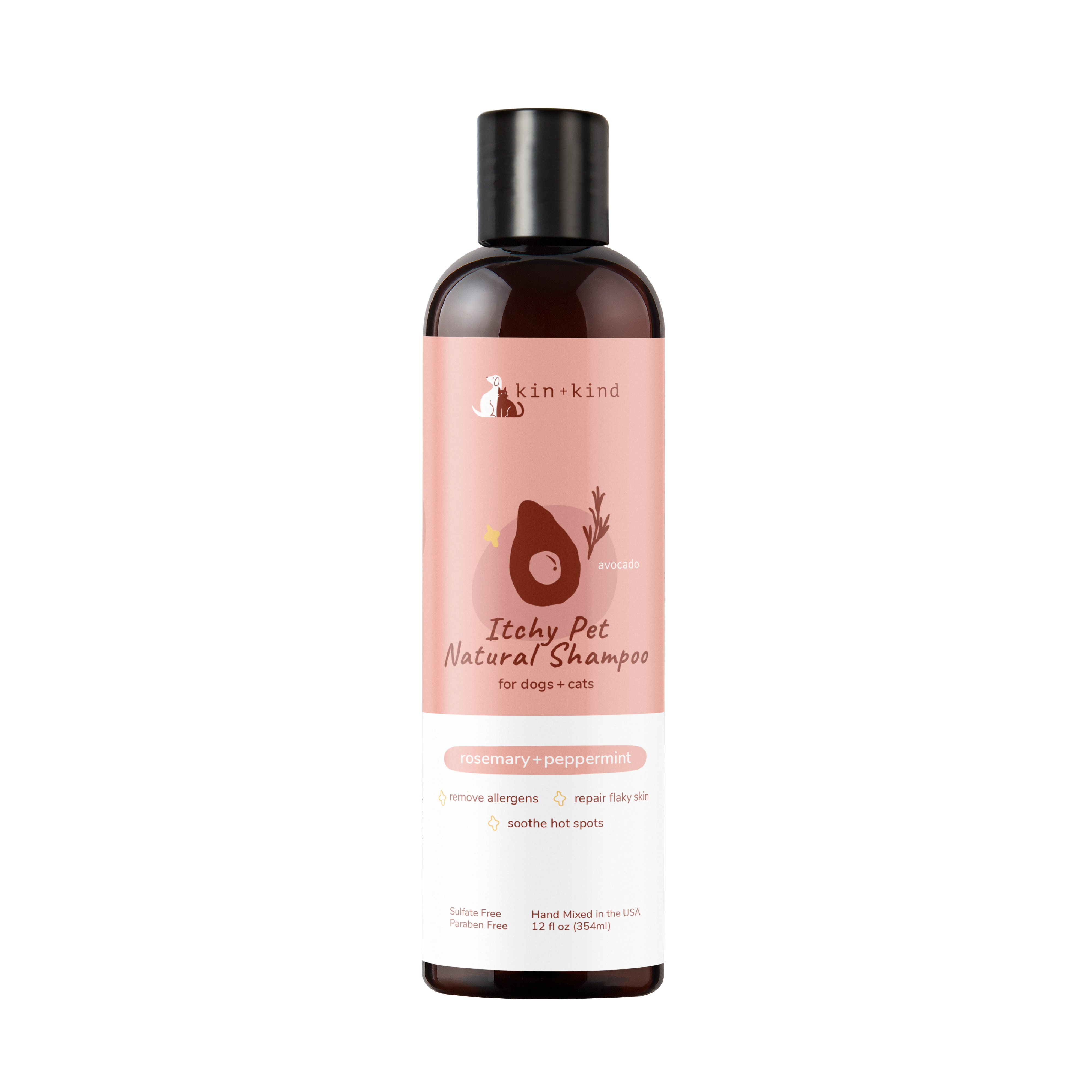 Kin+Kind แชมพู ITCHY PET SHAMPOO (ROSEMARY+PEPPERMINT) Dogs+Cats