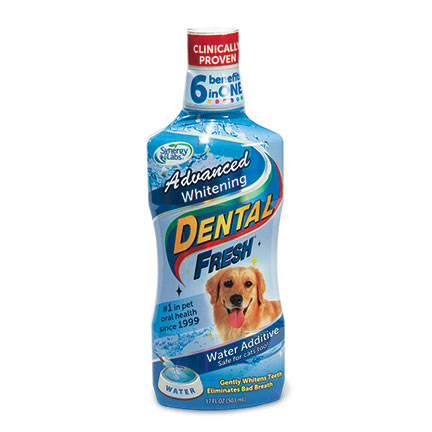Dental Fresh - น้ำยาบ้วนปากสุนัข สูตร Advanced Whitening