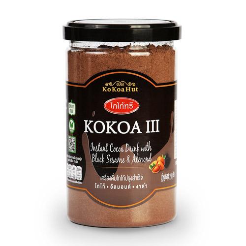 โกโก้ฮัท โกโก้ทรี เครื่องดื่มโกโก้ผสมงาดำและอัลมอนด์ ขนาด 210 กรัม ( 2 ฟรี 1 )