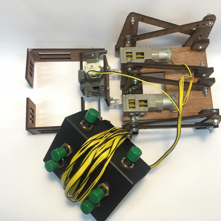 หุ่นยนต์ 6 ขา Crop-Bot พร้อมรีโมต 3-CH(แบบประกอบสำเร็จรูป)