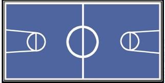 ไวนิลสนามแข่งหุ่นบาสเก็ตบอล