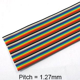 สายไฟขนาด AWG28 จำนวน 40 เส้น สีรุ้ง