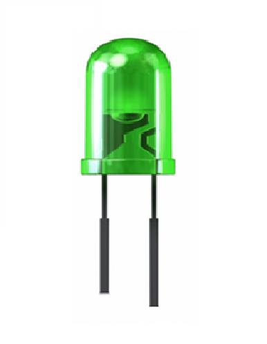 LED 3mm. Green (สีเขียว)