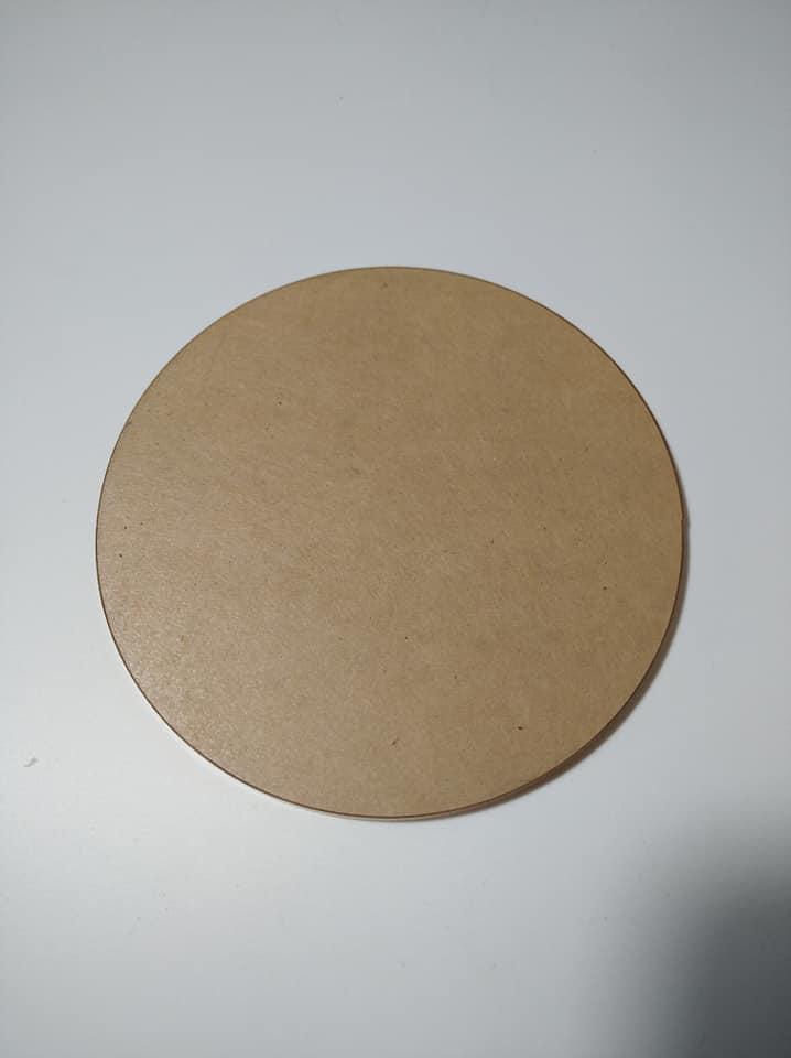 แผ่นอะคริลิคใส รูปวงกลม หนา 5มม. เส้นผ่านศูนย์กลาง 10 ซม.