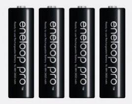 Rechargeable Battery Eneloop Pro 2550mA แพ็ค 4 ก้อน