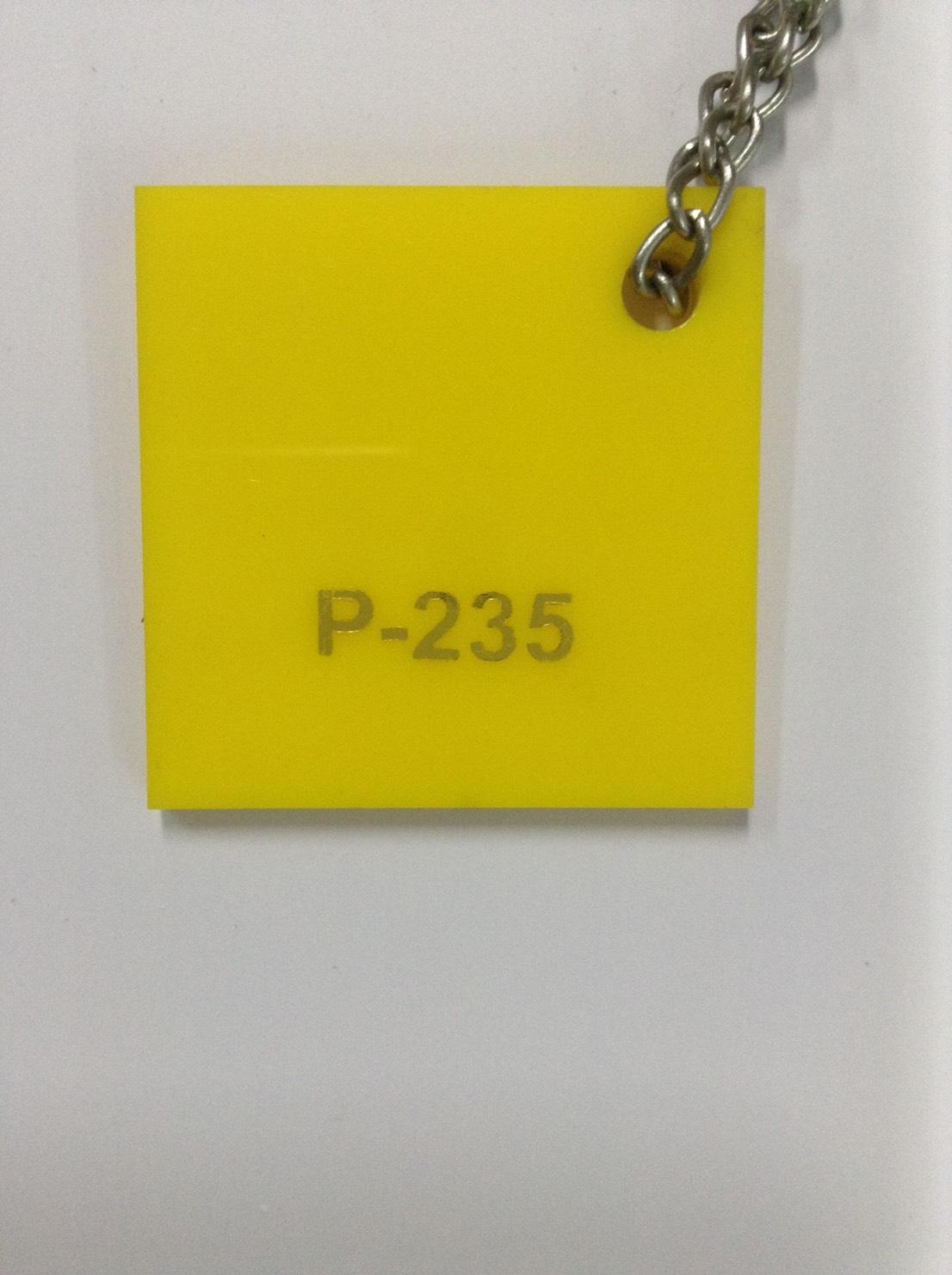 แผ่นอะคริลิคสีเหลือง หนา 3 mm. ขนาด 30x30 ซม.