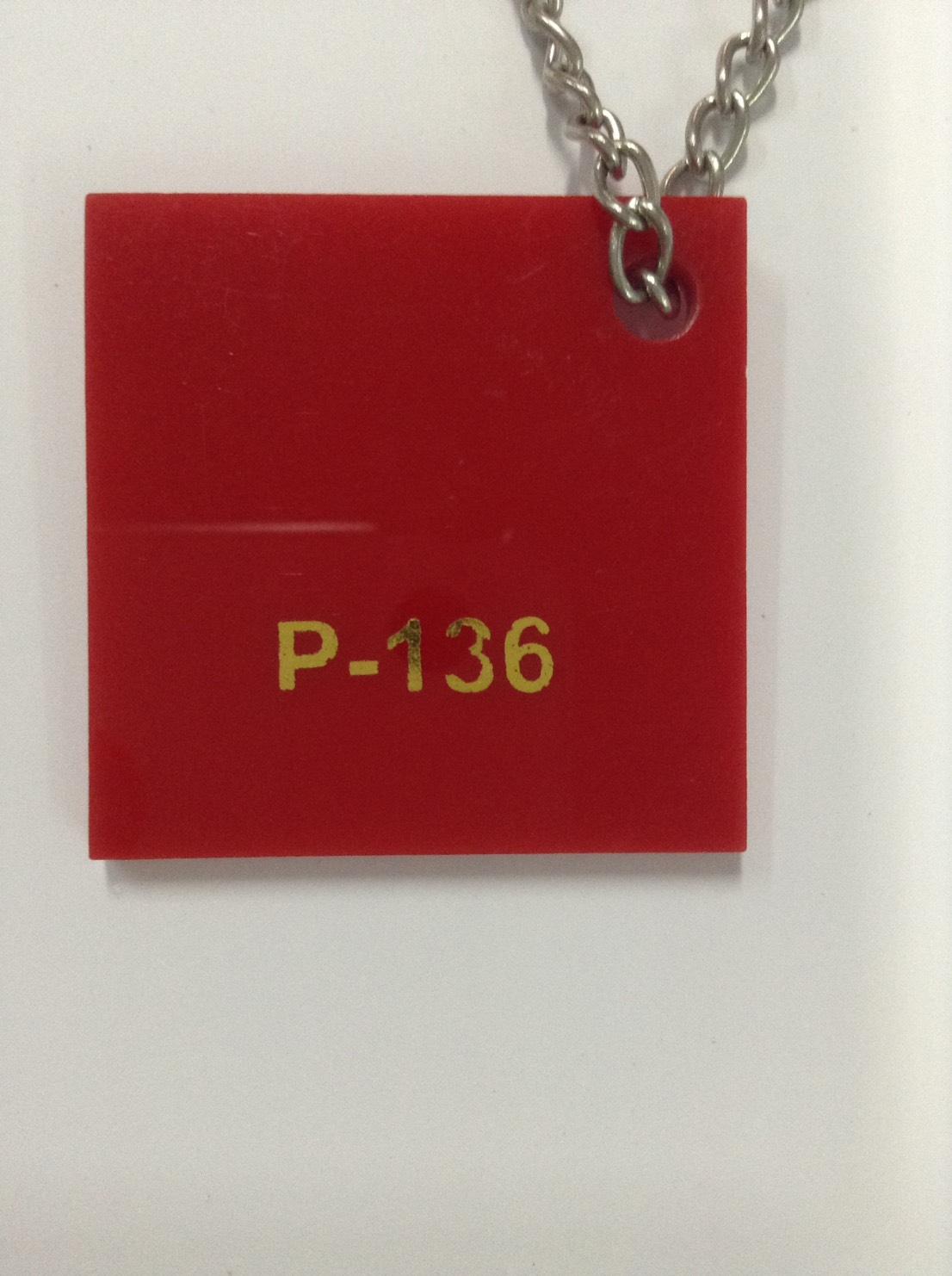 แผ่นอะคริลิคสีแดง หนา 3 mm. ขนาด 30x30 ซม.