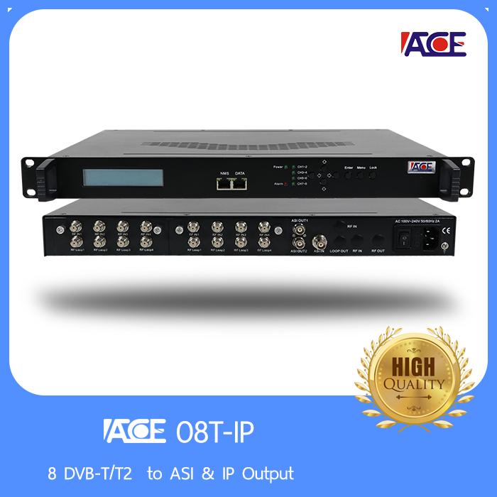 8 DVB-T/T2  to ASI & IP Output
