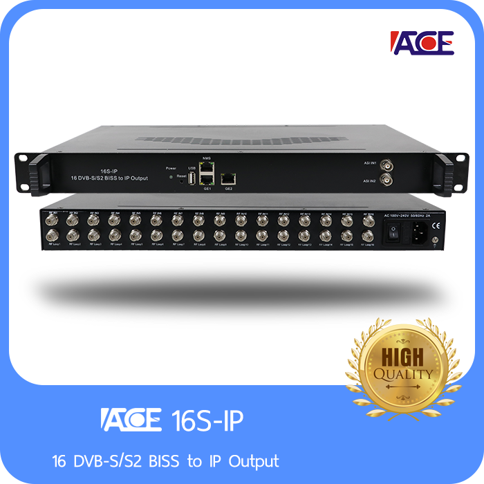 16 DVB-S/S2 BISS to IP Output