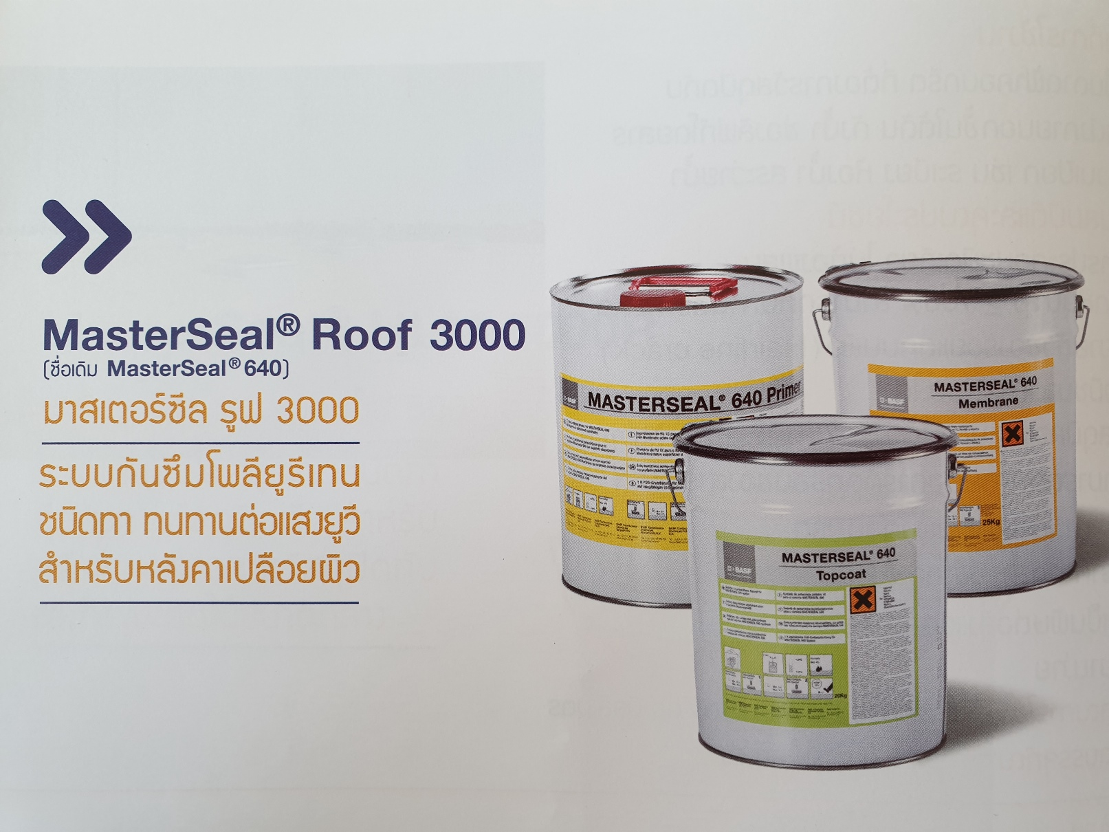 BASF MastersealRoof 3000 System