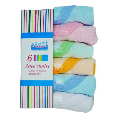 แพ็ค 6 ชิ้น ยี่ห้อ มาม่ามี ผ้าเช็ดหน้า เช็ดมือ เนื้อผ้าผ้าฝ้าย สีพื้น กุ้นขอบ