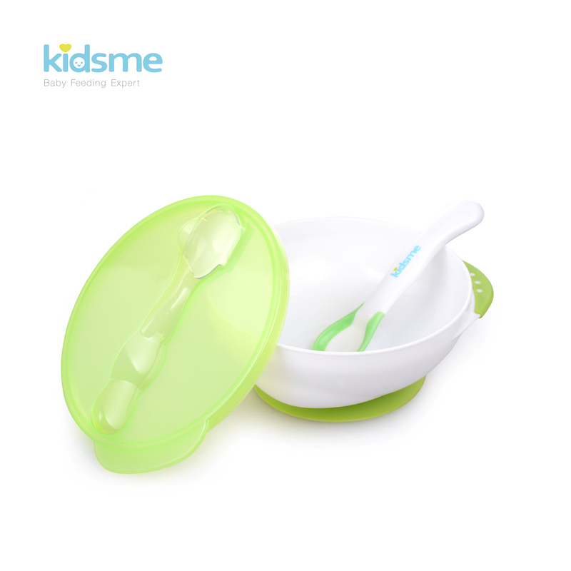 Kidsme Suction Bowl with Temperature Spoon Set