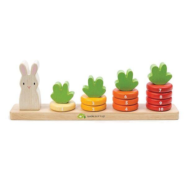 ของเล่นไม้ Counting Carrots - Tender leaf toys