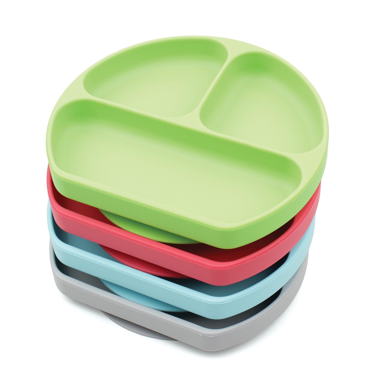ถาดหลุมซิลิโคนแบบติดโต๊ะ Silicone Grip Dish -  Bumkins (6m+)