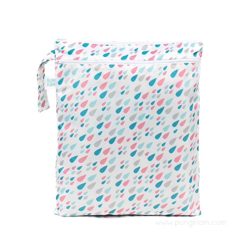 ถุงใส่ผ้าเปียก/แห้ง ลาย Raindrop - Bumkins (31.5x40.5 cm)