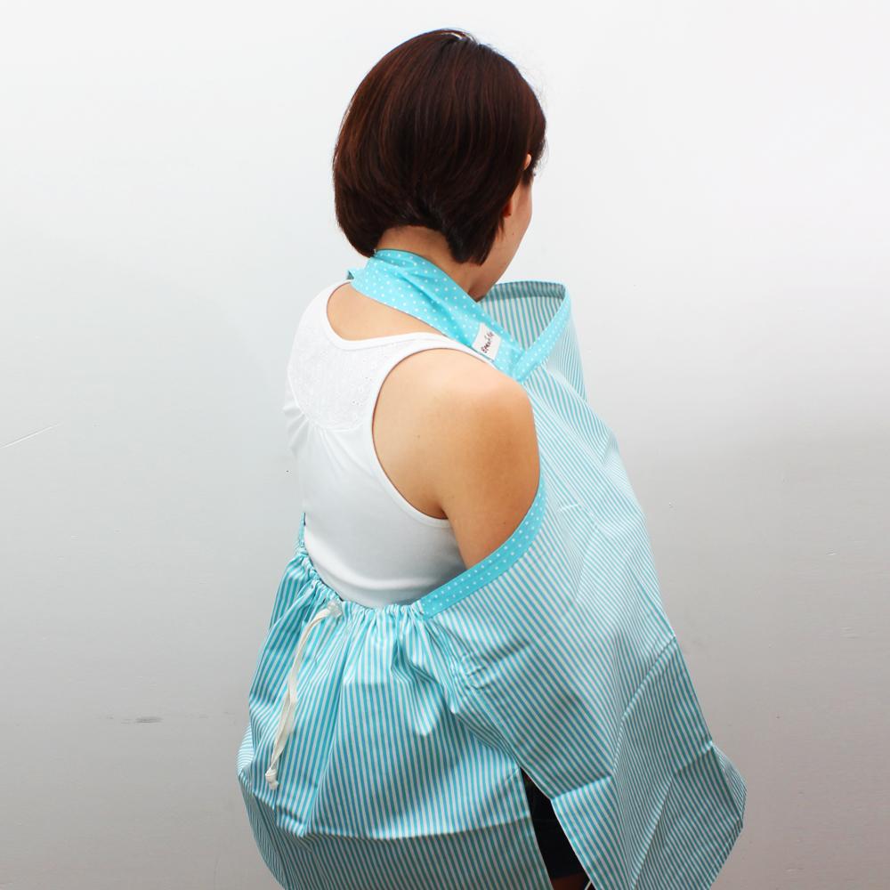 ผ้าคลุมให้นม Beanie Nap รุ่นมีผ้าปิดหลัง ลาย Greenery