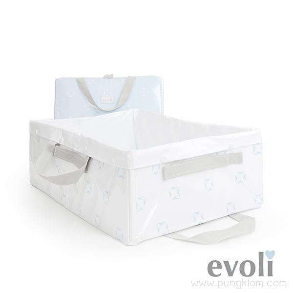 อ่างอาบน้ำเด็กพับได้ Evoli Baby Traveller Bathtub