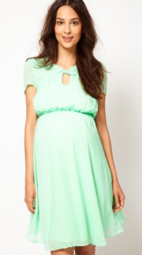 ชุดคลุมท้อง Skater Dress With Keyhole Neck - Mint