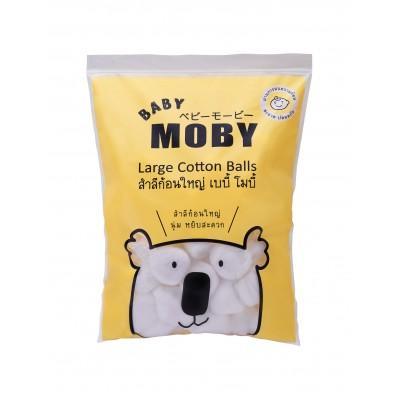 ของใช้เด็ก BABY MOBY สำลีก้อน BABY MOBY รุ่น Big Cotton Balls ขนาด 100 กรัม