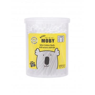 ของใช้เด็ก Mini Cotton Buds by Baby Moby Cotton คอตตอนบัตหัวเล็กจิ๋ว ก้านกระดาษ เทคโนโลยีจากญี่ปุ่นปุ่น