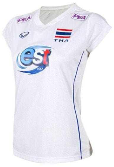 2021 Thailand Volleyball National Team Jersey Shirt White Nation League Player Woman