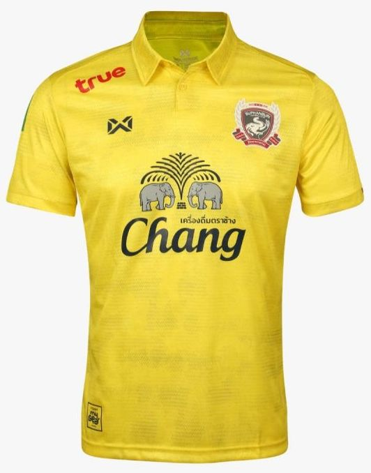 Suphanburi FC Authentic Thailand Football Soccer League Jersey Yellow Third