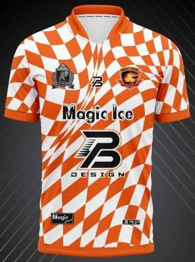 2021 Sisaket United Authentic Thailand Football Soccer League Jersey Shirt Training Orange
