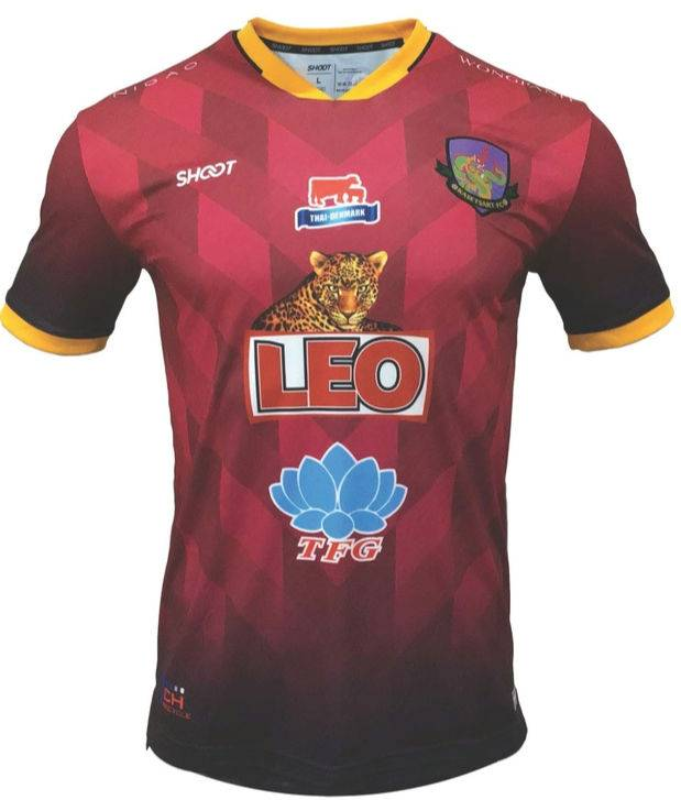 2021 Kasetsart FC Authentic Thailand Football Soccer League Jersey Shirt Home Red