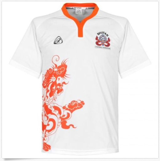Bhutan National Team Genuine Official Football Soccer Jersey Shirt White