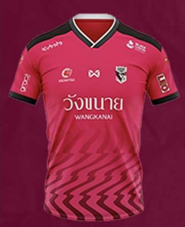 2020 Chainat Hornbill FC Authentic Thailand Football Soccer League Jersey Home Pink