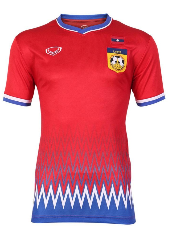 2020 Laos National Team Genuine Official Football Soccer Jersey Shirt Red Home Player Edition