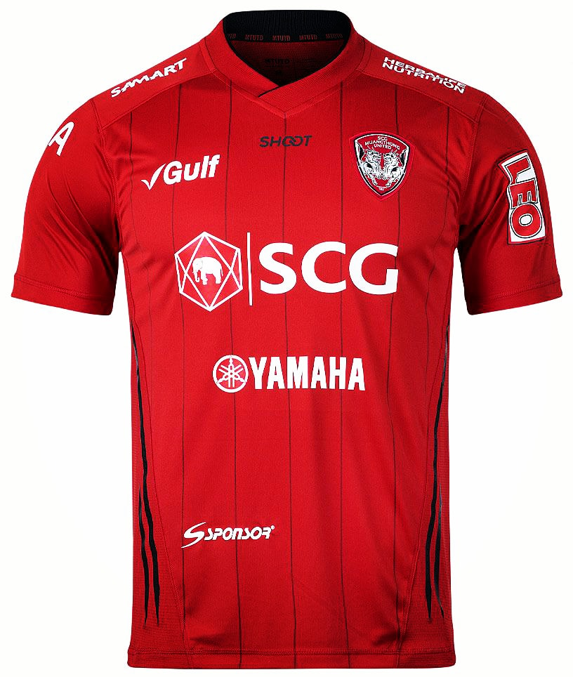 2020 SCG Muangthong United Authentic Thailand Football Soccer Thai League Jersey Shirt Home Red