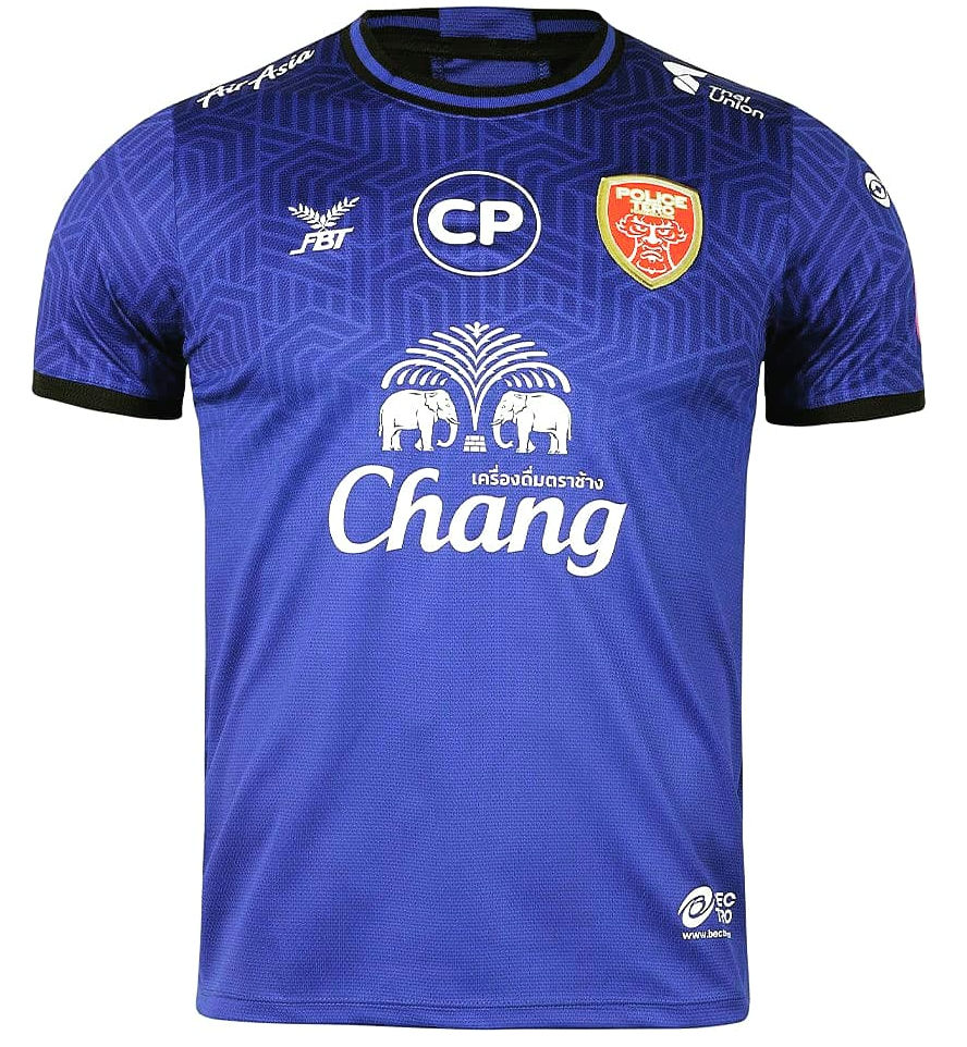 2020 Police Tero Authentic Thailand Football Soccer League Jersey Shirt Third Blue
