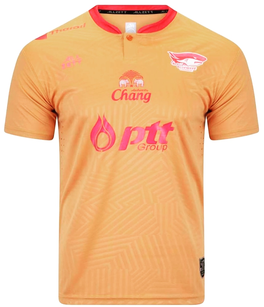 2020 PTT Chonburi Bluewave Authentic Thailand Football Soccer Futsal League Jersey Shirt Player Orange