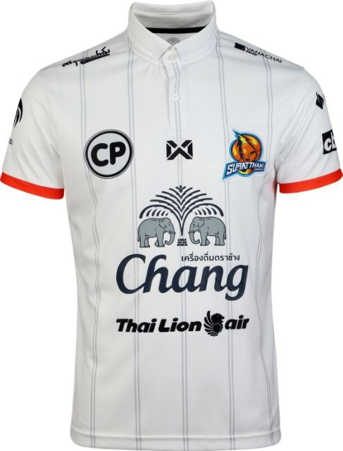 2020 Suratthani Chargers Authentic Thailand Football Soccer Futsal League Jersey Third White