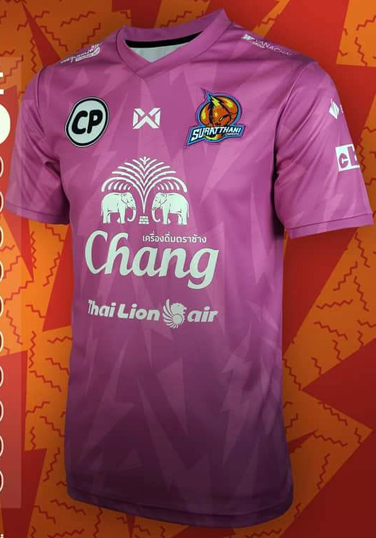 2020 Suratthani Chargers Authentic Thailand Football Soccer Futsal League Jersey Goalkeeper Purple