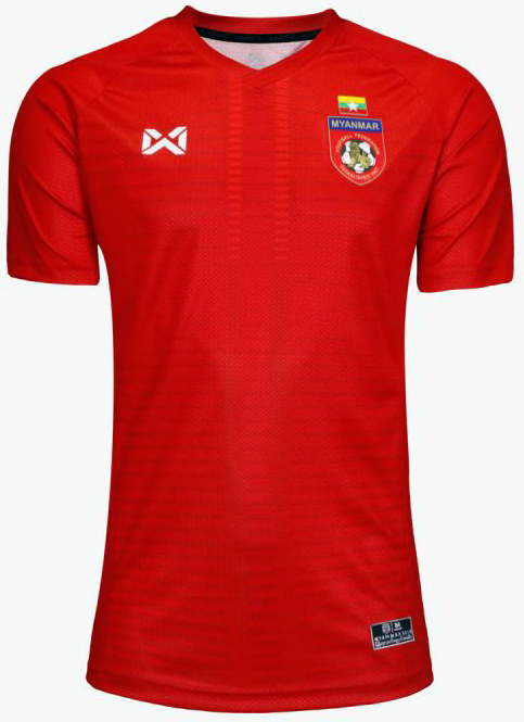 Myanmar National Team Football Soccer Authentic Genuine Jersey Shirt Red Player Edition