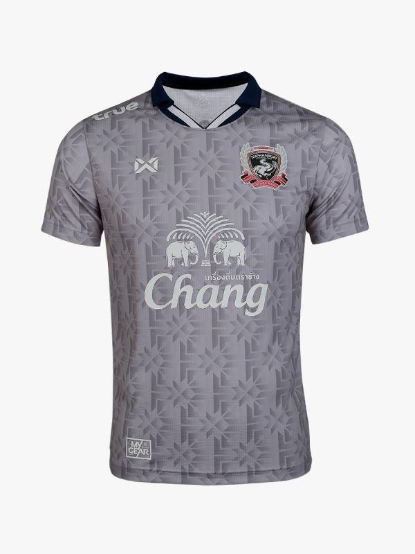 2020 Suphanburi FC Warrior Elephant Authentic Thailand Football Soccer League Jersey Away Gray