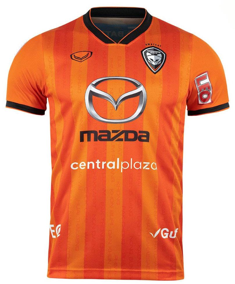 2020 Nakhonratchasima Mazda FC Authentic Thailand Football Soccer League Jersey Orange Player
