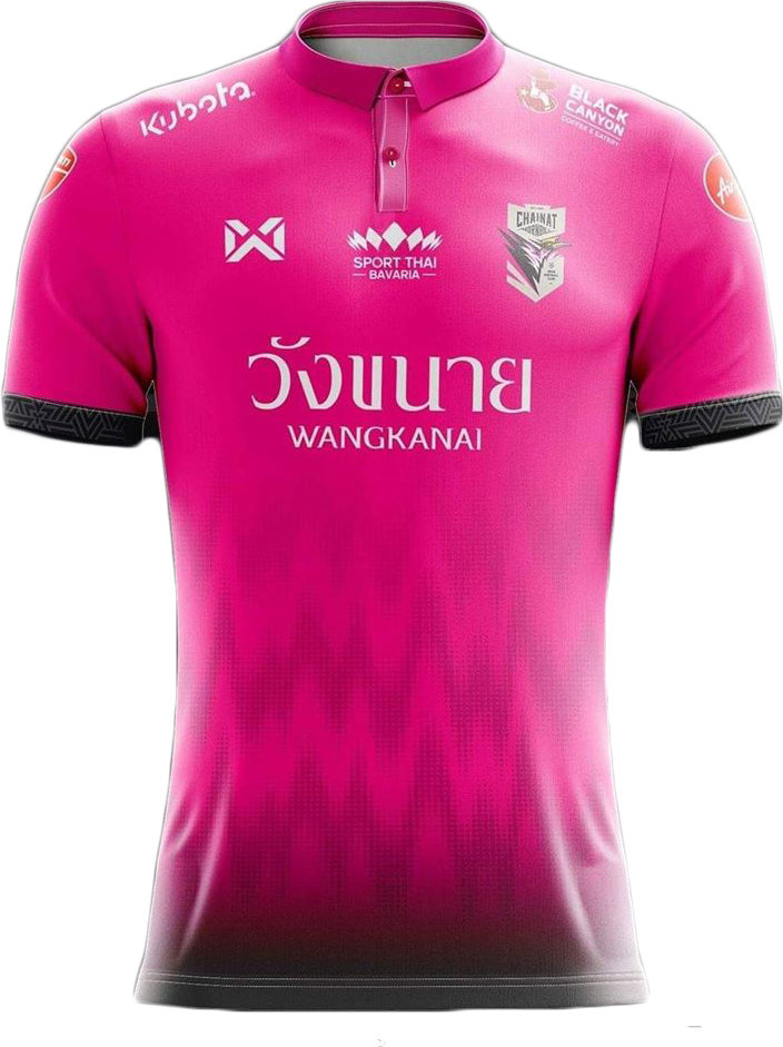 best sneakers a1417 5d6b0 2019 Chainat FC Authentic Thailand Football Soccer League Jersey Pink Home
