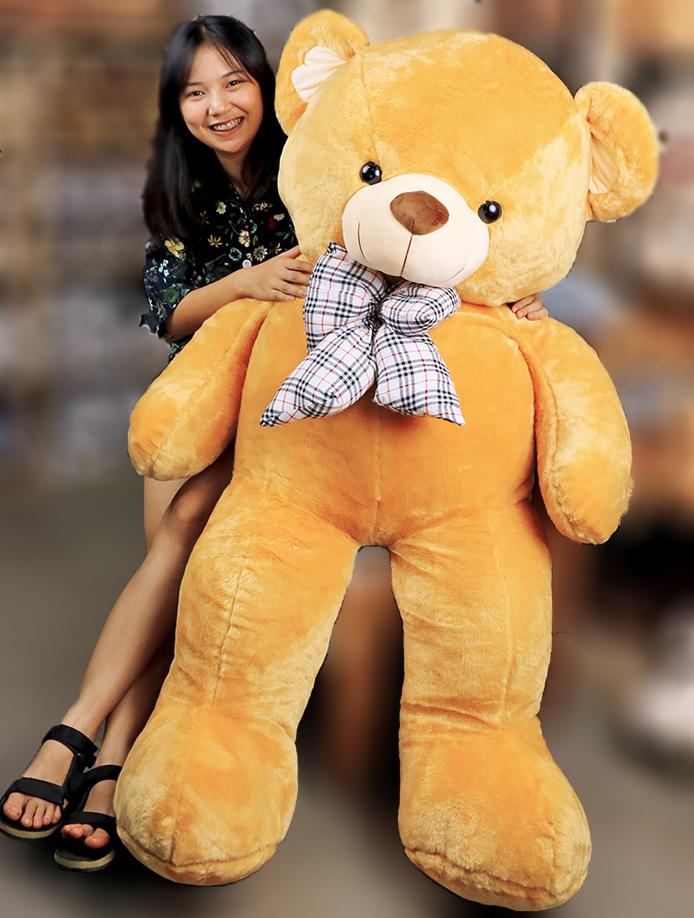 ตุ๊กตาหมีตัวใหญ่ หมีอ้วน ขนฟู น่ารัก ขนาด 1.4 เมตร