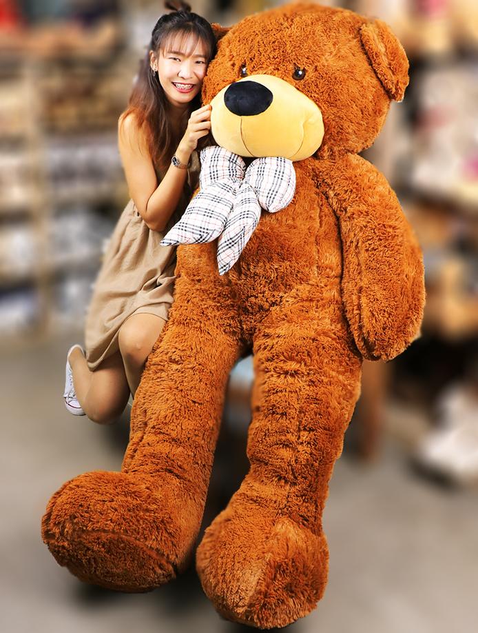 ตุ๊กตาหมีตัวใหญ่ จัมโบ้ ขนนุ่ม ขนาด 2 เมตร