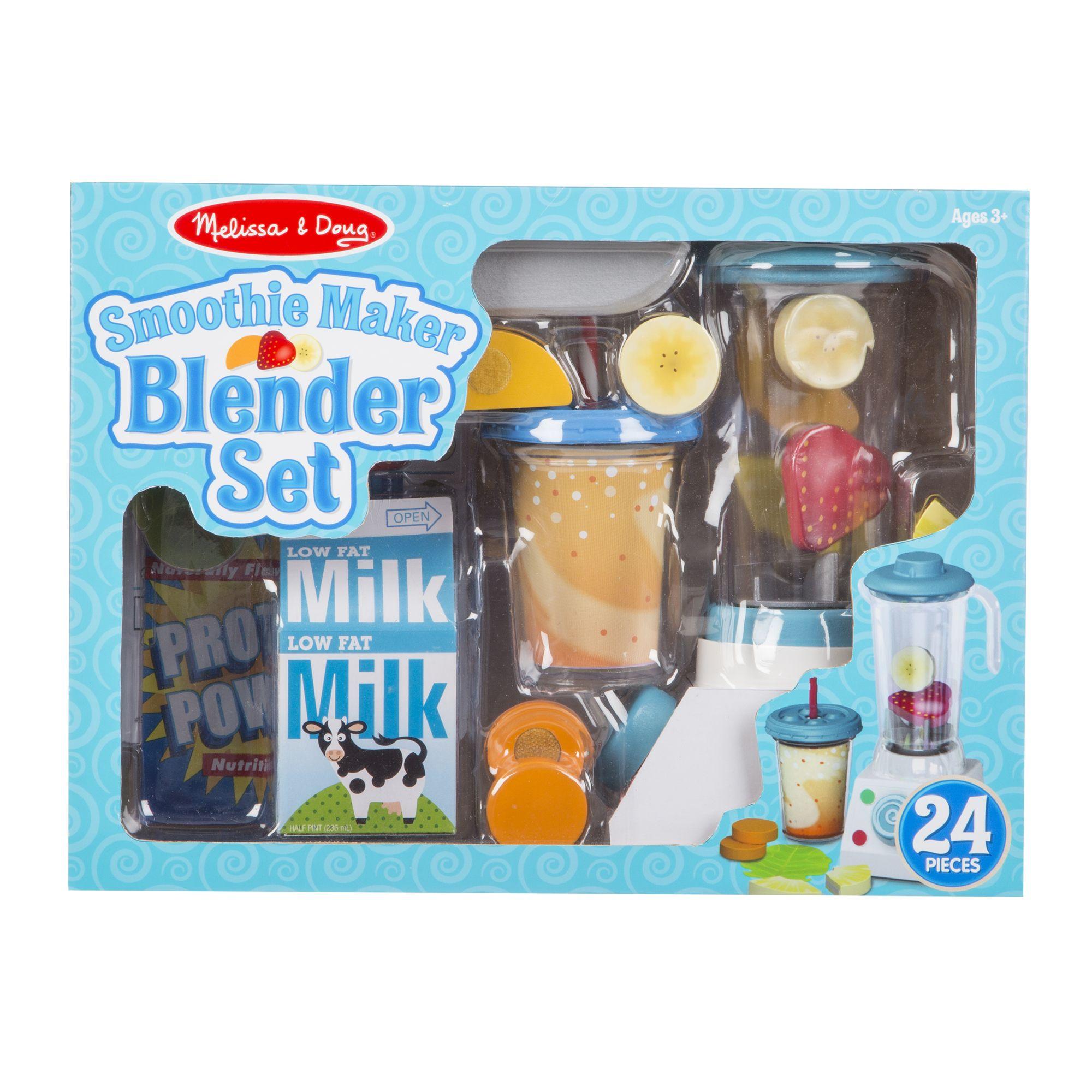 Melissa & Doug รุ่น 9841 Smoothie Maker Blender Set เครื่องปั่นสมูทตี้ เสริมจินตนาการโดยมีลูกเล่นอย่างมากมาย ส่งเสริมในการทำกิจกรรมเป็นกลุ่มและการมีความสำพันธ์รอบด้าน