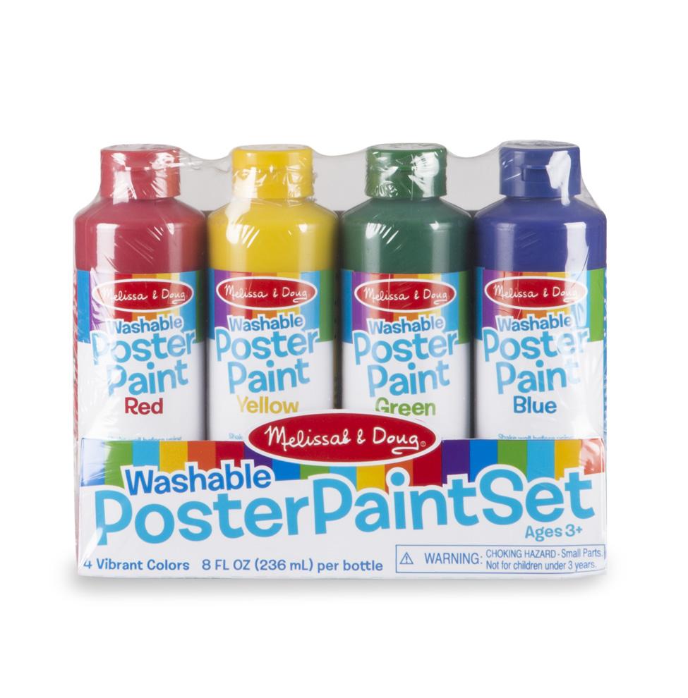 Melissa & Doug รุ่น 4127 Washable Poster Paint Set ชุดสีโปสเตอร์แบบขวด Non-toxic สามารถล้างออกได้
